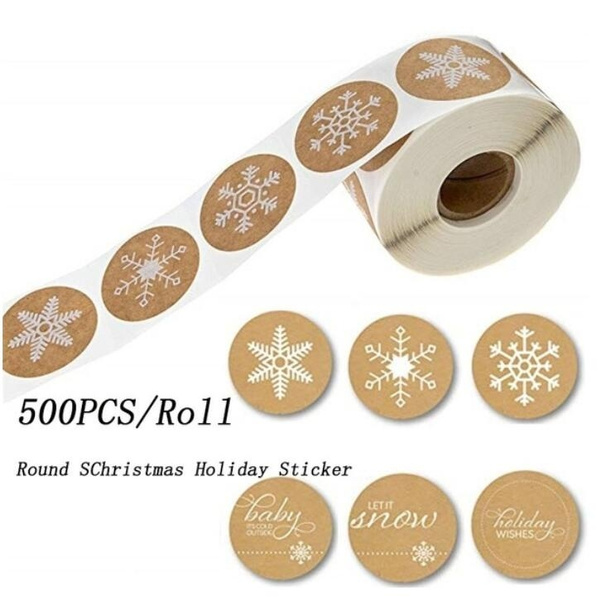lable, Christmas, Stickers, roundstickerlabel