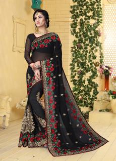 saree, sari, sarisilk, embroiderywork