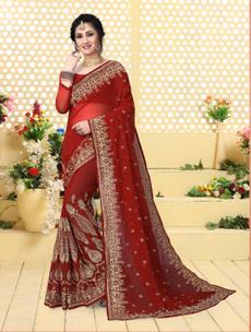 saree, sari, partywearesaree, embroidered