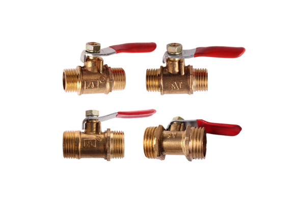 10pcs Brass Ball Valve 1//8 1//4 3//8 1//2 Male Thread Ball Valve Brass Connector Joint Copper Pipe Fitting Coupler Adapter Tubing Pipe Specification : 12