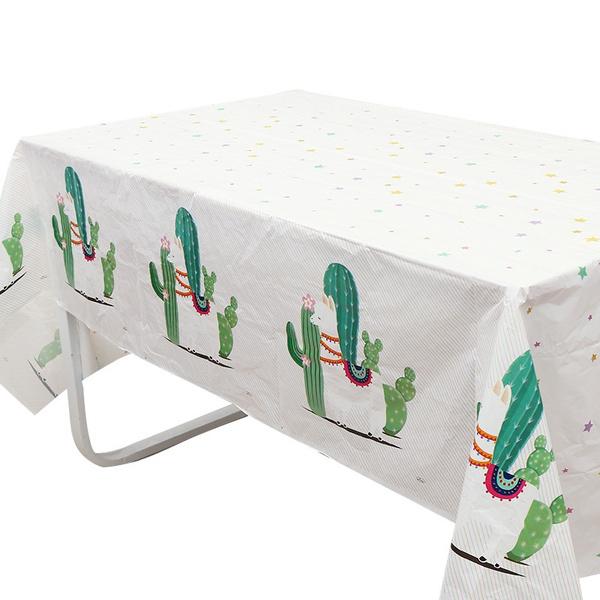kidsbirthdayparty, disposabletablecover, alpaca, llamatablecloth
