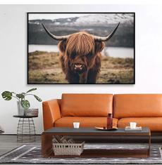 art, cow, photowall, animalpainting
