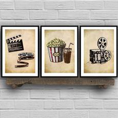 Vintage, art, Home, popcorn