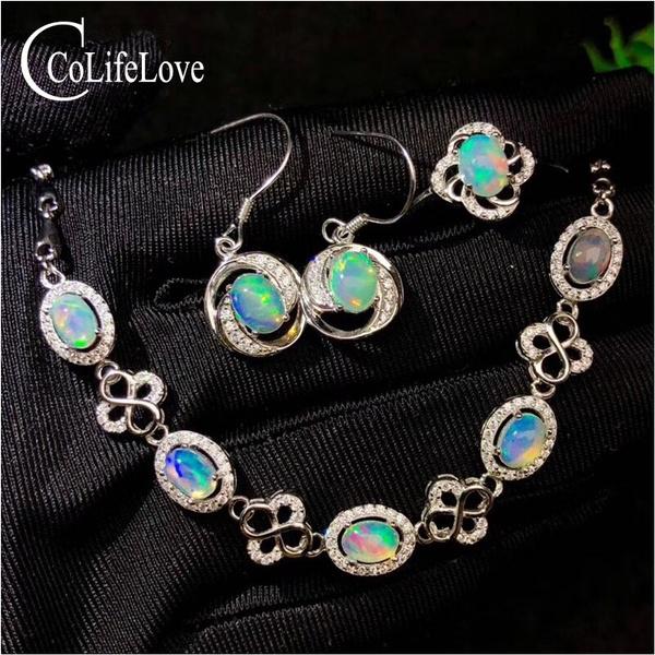 genuineopaljewelryset, Jewelry, Classics, 925 silver jewelry