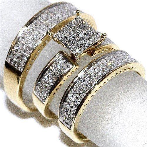 DIAMOND, gold, Bridal wedding, promise rings