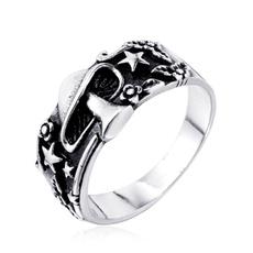 Steel, Flowers, Star, Jewelry
