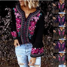 blouse, cute, Plus Size, Floral print