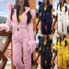 Outdoor, Cotton, fur collar, Suits