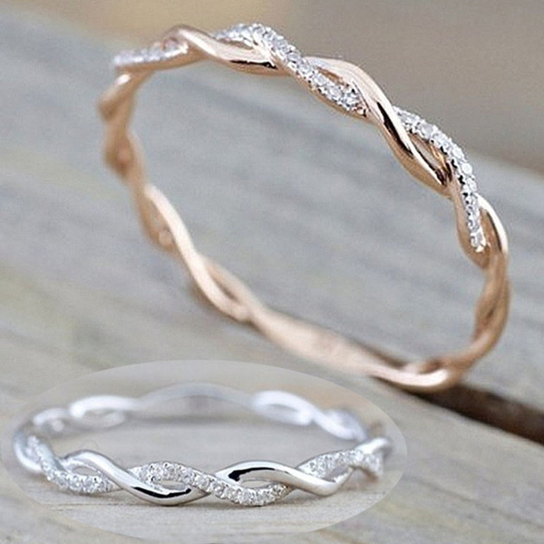 yellow gold, stackablering, Infinity, Jewelry