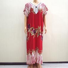 Fashion, Sleeve, long dress, 100cotton