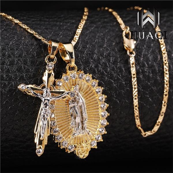 virginmarynecklace, crucifixnecklace, DIAMOND, jesus