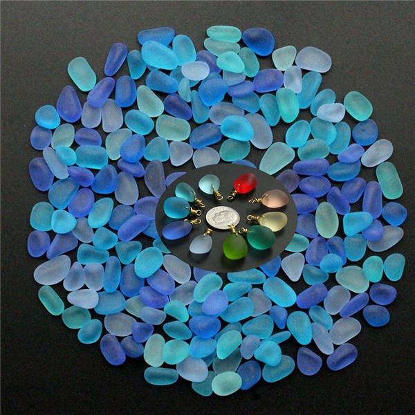 Blues, aquariums, seaglassbead, Sea Glass Jewelry