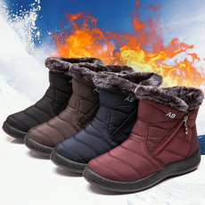 ankle boots, Footwear, Outdoor, fur