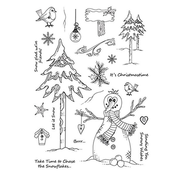 Happaiersouty Christmas Cartoon Silicone Seal Stamp DIY Scrapbooking Photo Album Decor