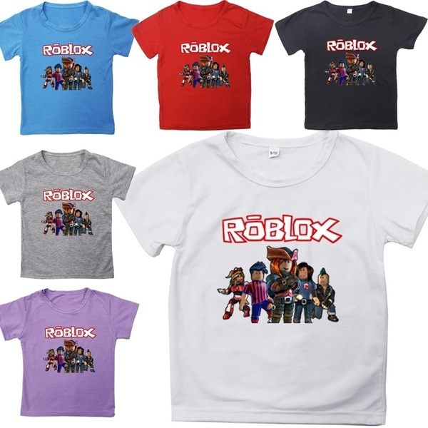 T Shirt Roblox Girl Cute New Christmas Gift Children Kawaii Tops Casual Tees Roblox Kids Boys And Girls Cotton Short Sleeves T Shirts Tee Tops For Children Baby Wish