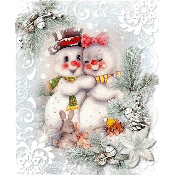 paintwithdiamond, snowman, DIAMOND, crossstitch