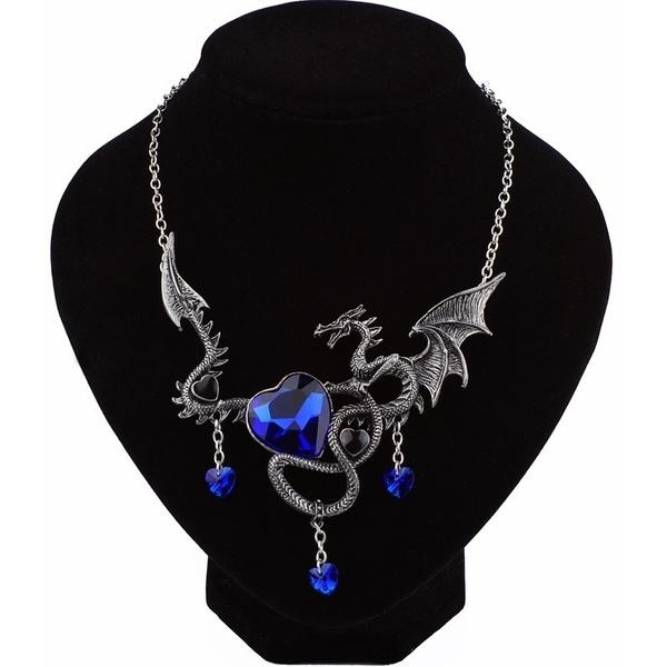 firebreathingdragonnecklace, Goth, Fashion, gemstonenecklace