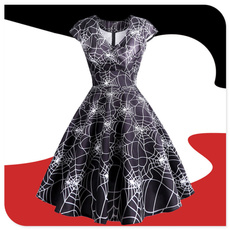GOTHIC DRESS, cooldre, printed, Cocktail Party Dress