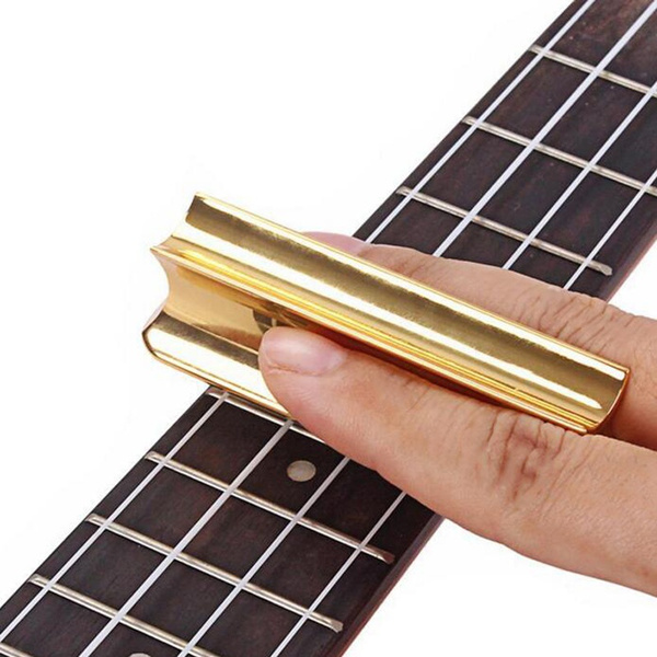 black Guitar Slide Bar,Hawaiian Pearse Guitar Metal Slide Tone Bar for Stringed Instruments,Black or Gold.