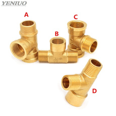 Brass, Copper, Adapter, Tee