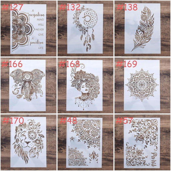 Mandala Stencil DIY Craft Walls Painting Stamping Scrapbooking Card Stamp Albu
