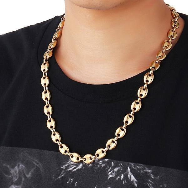 Steel, Chain Necklace, Men  Necklace, punk necklace