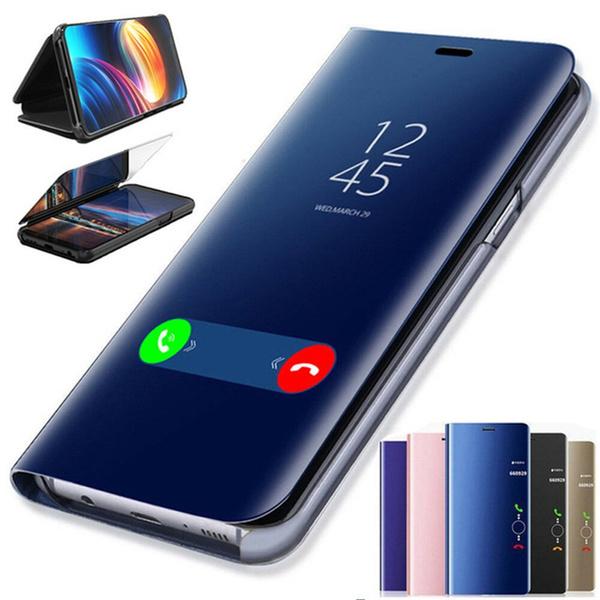 Smart Flip Mirror Phone Case For Huawei Y9 Prime 2019 Y5 Y6 Y7 2019 360 Clear View Cover For Huawei P Smart 2019 PSmart Plus 6.3 | Wish
