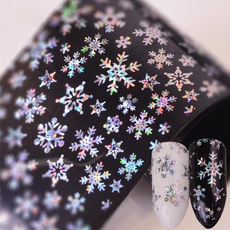 Star, nail stickers, Laser, Christmas