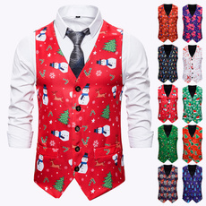 snowmanwaistcoat, party, Vest, slim