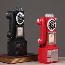 Antique, decoration, resintelephonemodel, classicaltelephone