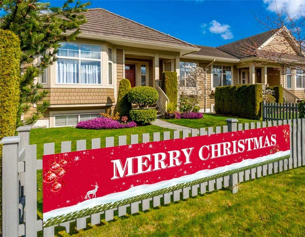 xmasdecor, christmascurtain, partybanner, Home & Living