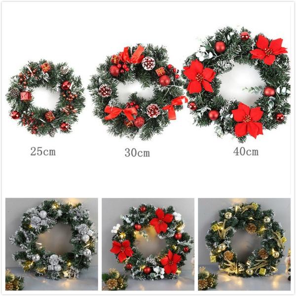 christmasledwreath, ornamental, led, christmasdoorhanginggarland