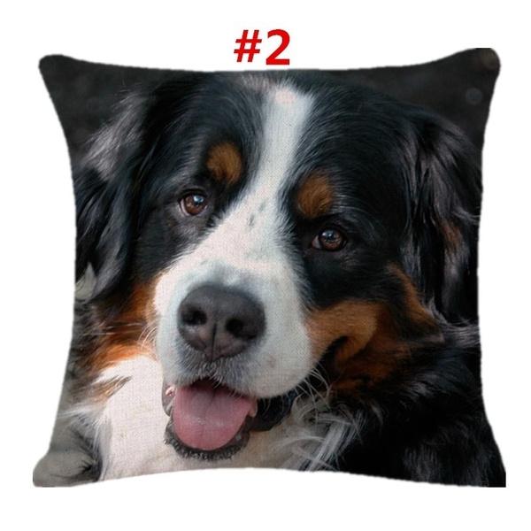The Inner Isn T Include Cute Bernese Mountain Dog Cotton Linen Pillowcase Sofa Square Pillow Cover Car Throw Pillow Cushion Cover Wish