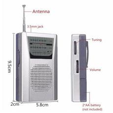 35mmearphonejack, Mini, parentsgift, telescopicantennaradio