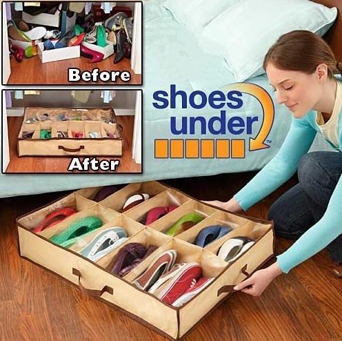 shoeorganizer, yellowunderbag, Storage, Yellow