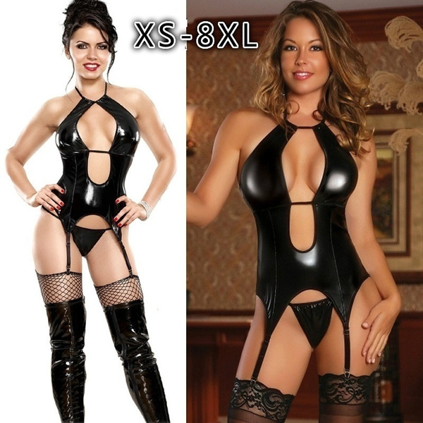 bodycon jumpsuits, latex, Club Dress, Plus Size