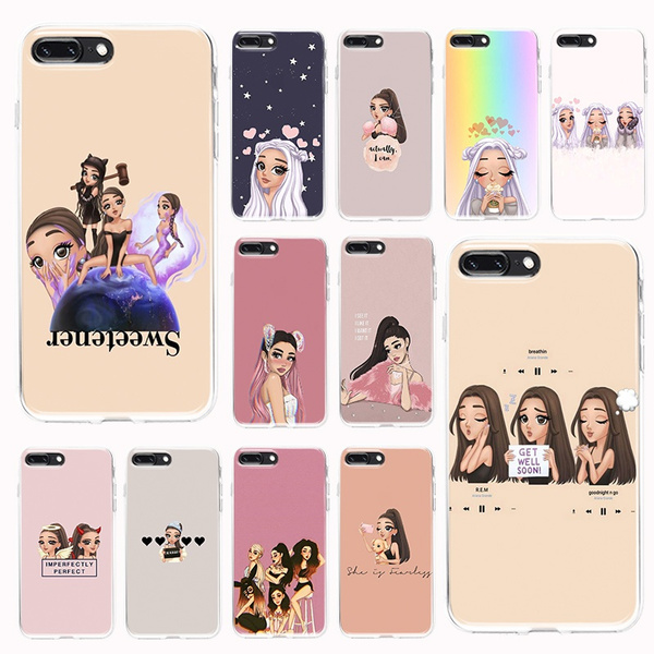 Ariana Grande Phone Cases for IPhone 5 5S SE 5C 6 6s 7 8 Plus XS XR XS 11 Pro Max X Coque for Samsung Galaxy S10 Plus S10E S8 S9 Plus Note 8 Note 9 ...