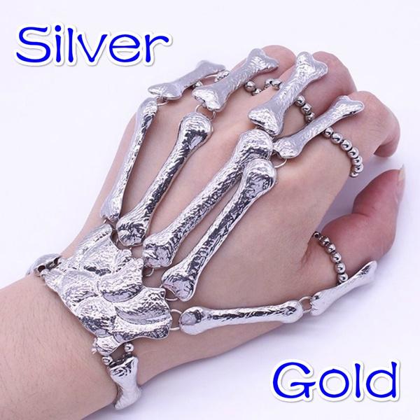 Bracelet, Goth, Skeleton, skull