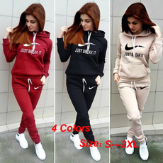 Two-Piece Suits, hooded, womens hoodie, Sleeve