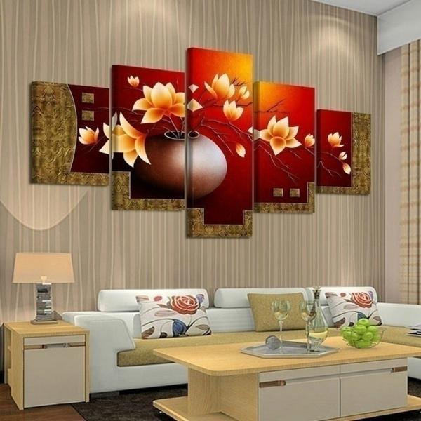 living, Flowers, art, Wall