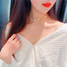 clavicle  chain, Fashion, Party Necklace, dressmatching