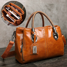 Shoulder Bags, Fashion, Capacity, cowhideleather
