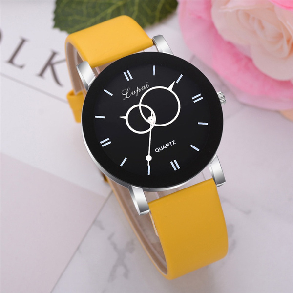 Fashion, creativewatch, leather strap, Simple