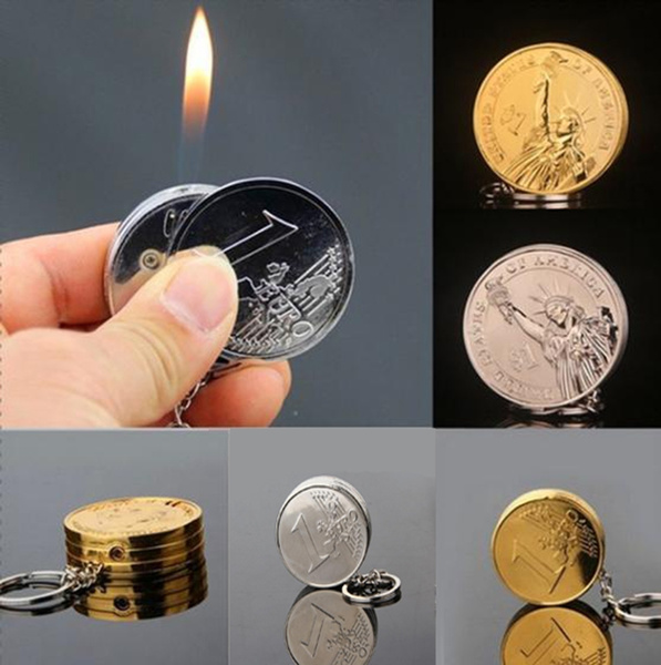 Fashion, Jewelry, coinshaperechargeablelighter, lightersocket