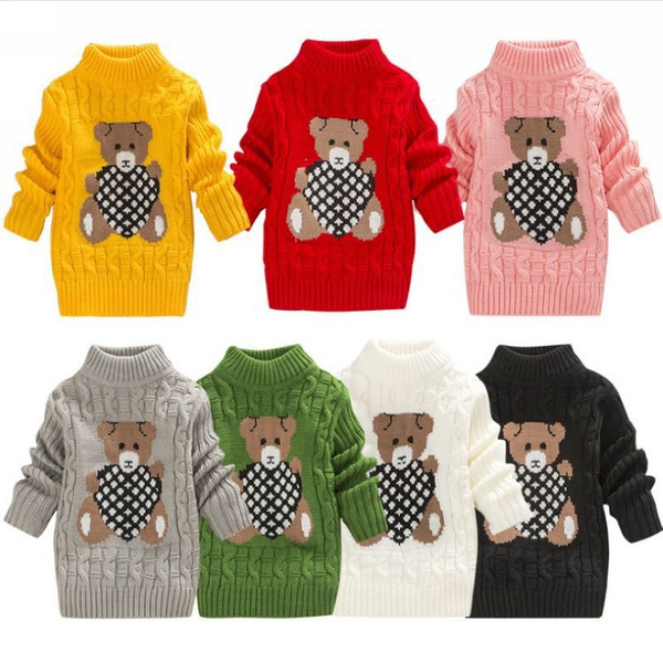 Fashion, children's clothing, Bears, knitted