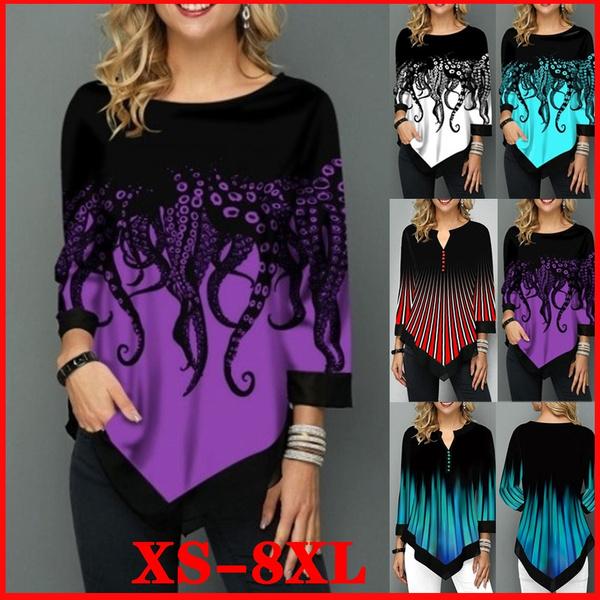 blouse, autumnwinter, Plus Size, 34sleeve