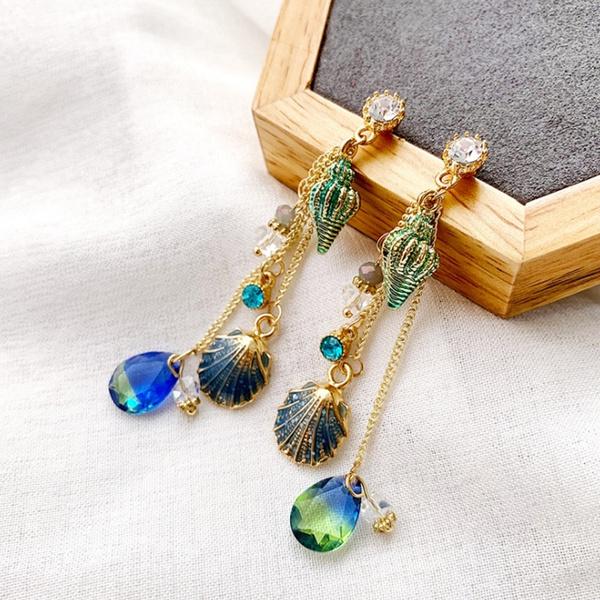 bohemia, tasselsearring, Dangle Earring, Jewelry