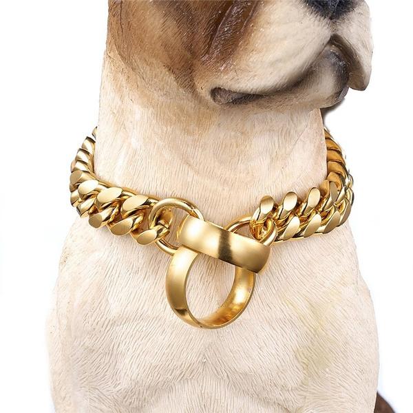 Steel, Chain Necklace, Jewelry, collarsfordog