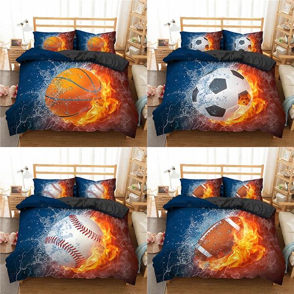 boysbeddingset, Home Decor, footballbeddingset, Bedding