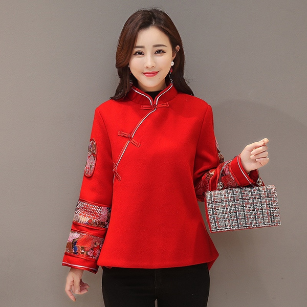 chinesestyle, Fashion, Tops & Blouses, Winter
